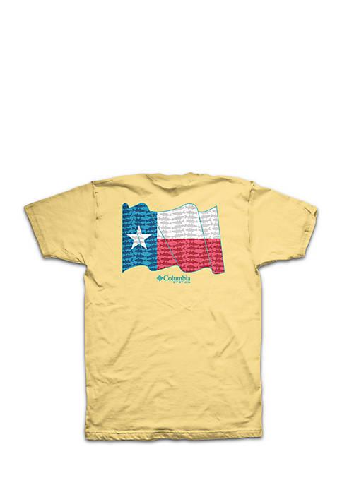 Columbia Short sleeve PFG Texas State Flag Tee