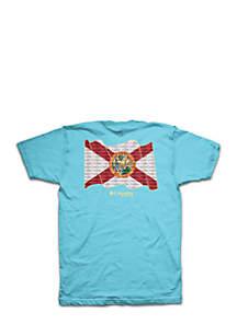 Columbia Short Sleeve PFG Florida State Flag Tee