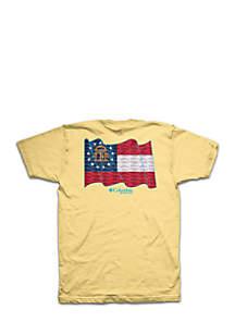 Short Sleeve PFG GA State Flag Tee