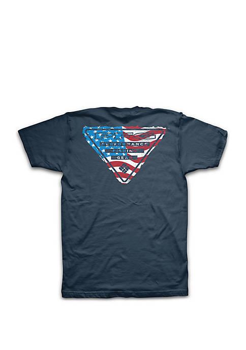 Columbia Big & Tall PFG American Flag Short