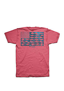 Columbia Short Sleeve PFG Fish Flag Update T Shirt