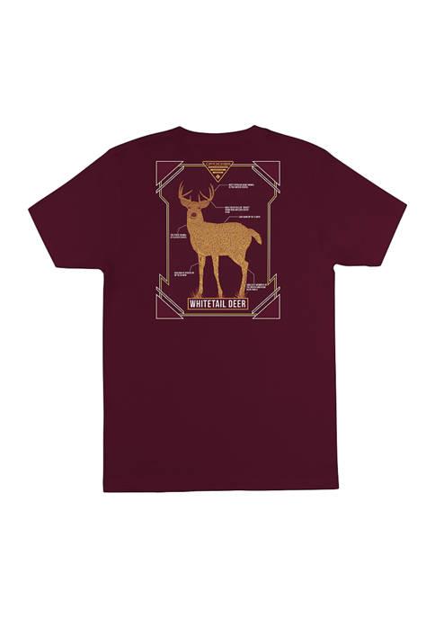 Columbia Short Sleeve White Tail Deer Graphic T-Shirt
