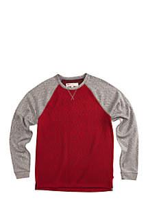 Andover Textured Fleece Pullover