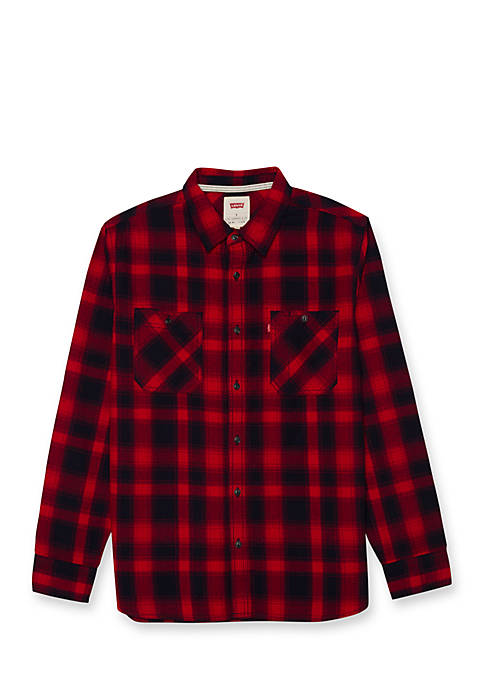Levi's® Lusk Dobby Twill Plaid Button Down Shirt