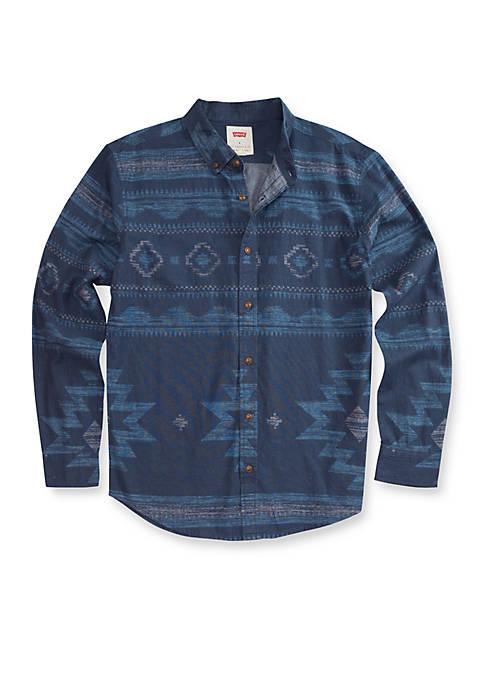 Levi's® Reaves Printed Chambray Shirt