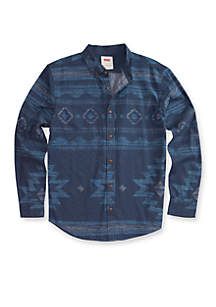 Reaves Printed Chambray Shirt