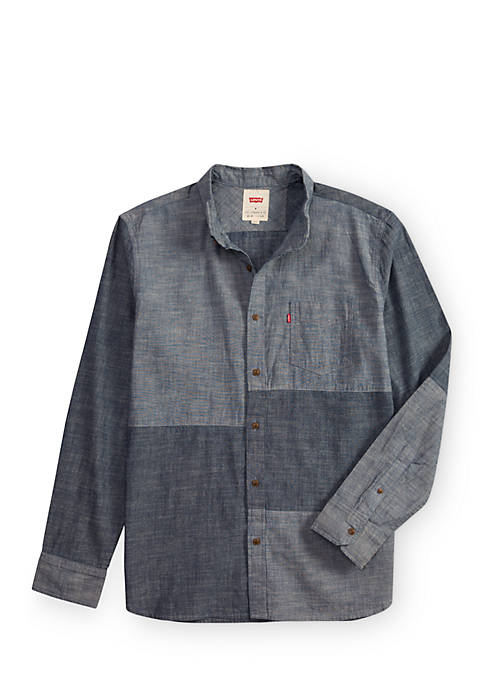 Levi's® Patch Crosshatch Chambray Button Down