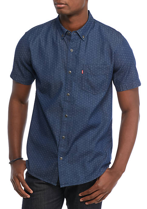 Levi's® Short Sleeve Cayman Dobby Denim Shirt