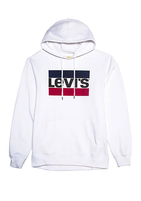 Levi's® White Fleece Hoodie