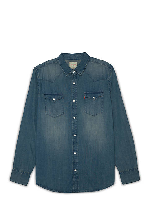 Levi's® Long Sleeve Denim Western Shirt