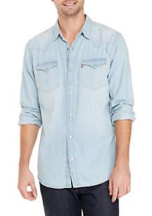 Long Sleeve Denim Western Shirt
