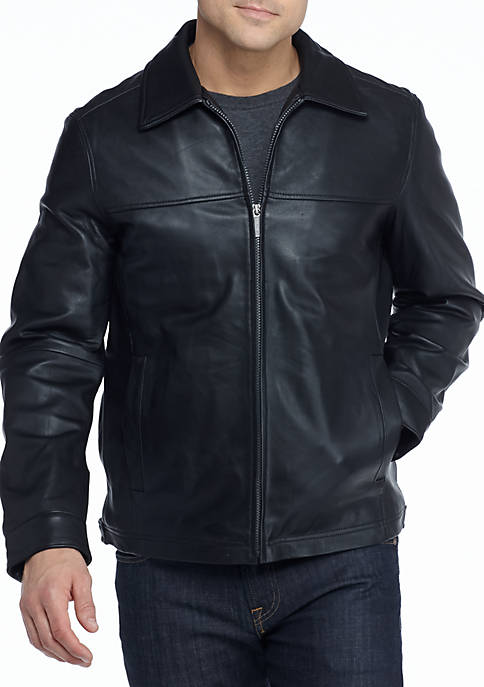 Nautica Leather Bomber Jacket Belk