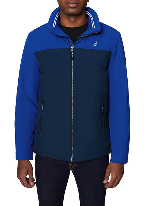 Mid Weight Color Block Hooded Jacket
