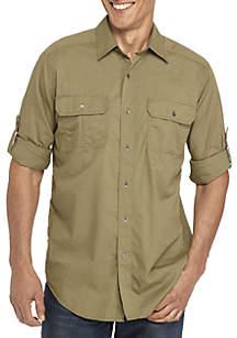 Ocean & Coast® Long Sleeve Solid Utility Shirt