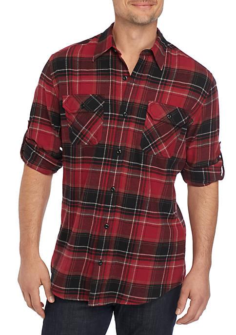 Ocean & Coast® Long Sleeve Flannel Shirt