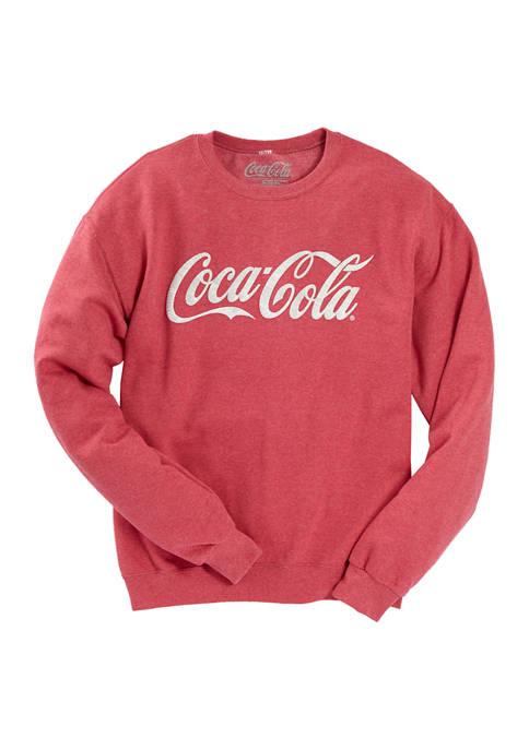 Coca Cola Stitched Crew Fleece Pullover