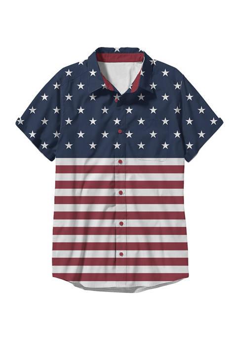 Fifth Sun™ Americana Short Sleeve Woven Shirt