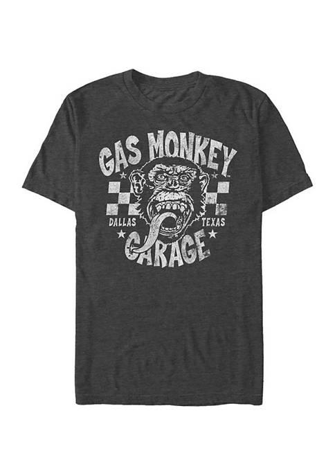 Gas Monkey Checkered Gas Money Graphic T-Shirt