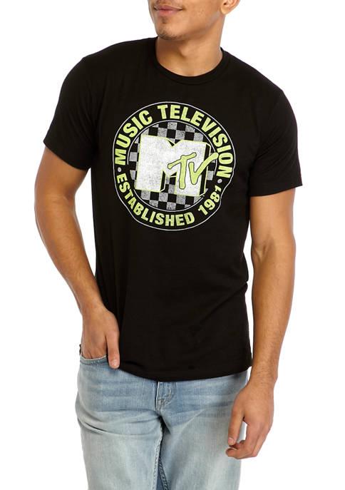 Fifth Sun™ Short Sleeve MTV Checkered Graphic T-Shirt