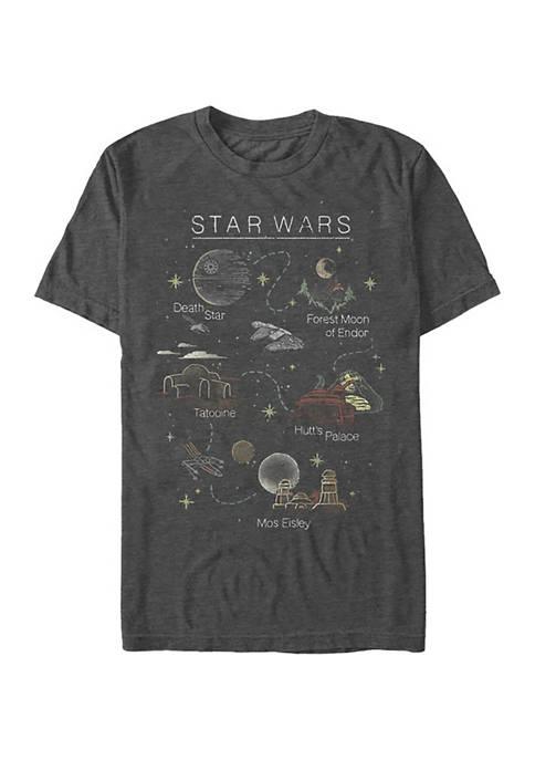 Star Wars® Star Wars Map Graphic T-Shirt