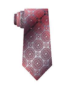 Dennis Medallion Print Neck Tie