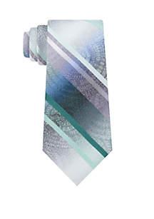 Howard Medallion Stripe Print Neck Tie