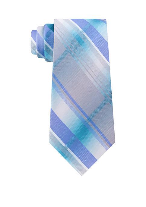 Plaid Ombre Tie