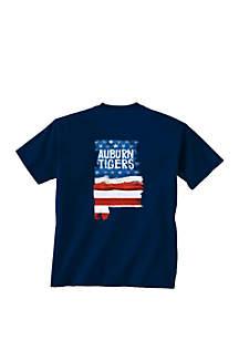 New World Graphics Auburn Tigers Patriotic T Shirt