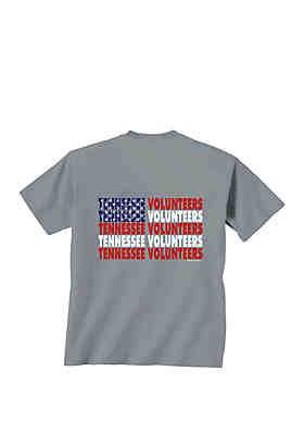 68bbe08a New World Graphics Tennessee Volunteers Patriotic Words T Shirt ...