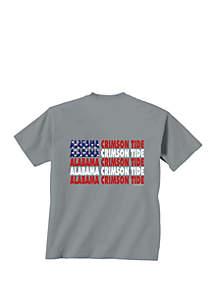 New World Graphics Alabama Crimson Tide Patriotic Words T Shirt