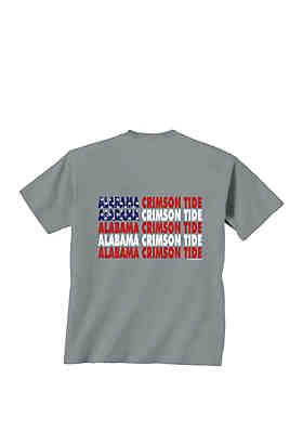 761f3d8ac0c5 New World Graphics Alabama Crimson Tide Patriotic Words T Shirt ...