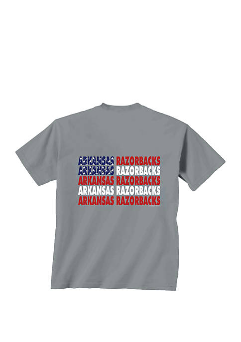 New World Graphics Arkansas Razorbacks Patriotic Words T