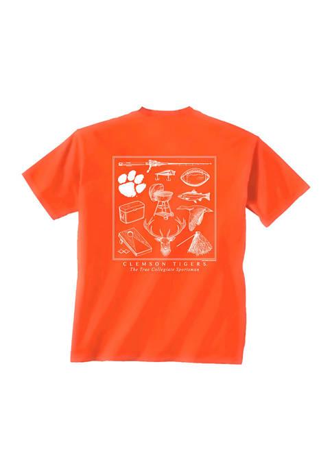 Comfort Colors NCAA Clemson Tigers Sportsman Montage T-Shirt