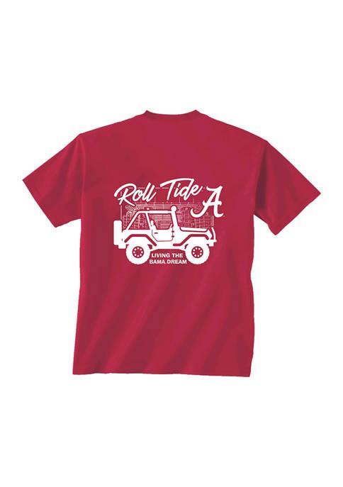 Comfort Colors NCAA Alabama Crimson Tide Jeep Life
