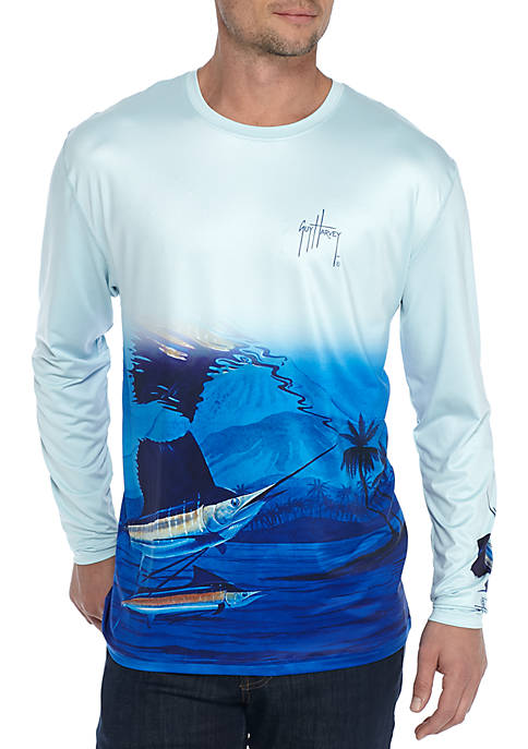 Guy Harvey® Long Sleeve Performance Skimming Tee