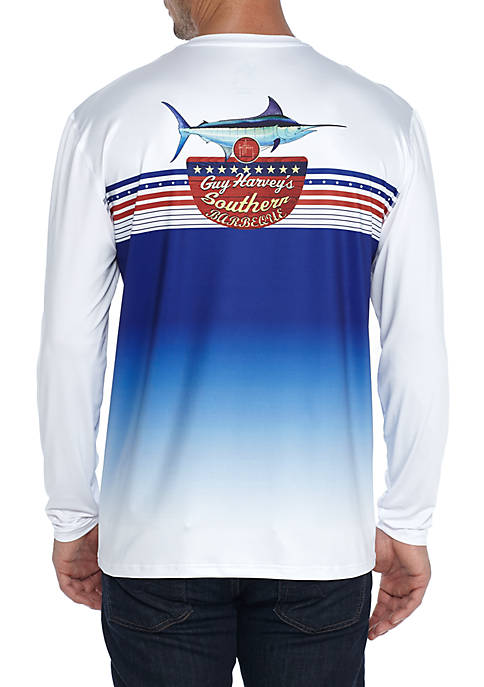Guy Harvey® Long Sleeve Southern BBQ Performance Tee