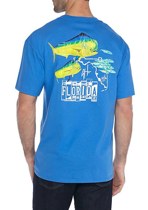 Discount Guy Harvey Short Sleeve Florida Roadtrip Tee for cheap