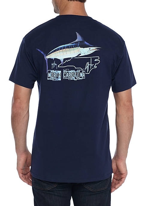 Guy Harvey® Short Sleeve North Carolina Roadtrip Tee