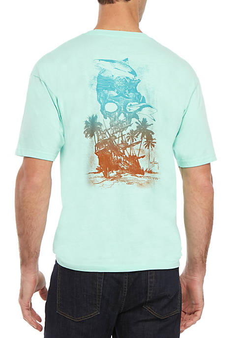 Guy Harvey® Short Sleeve Chainshot Graphic Tee