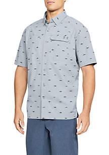 Fish Hunter Plaid Button-Down Shirt