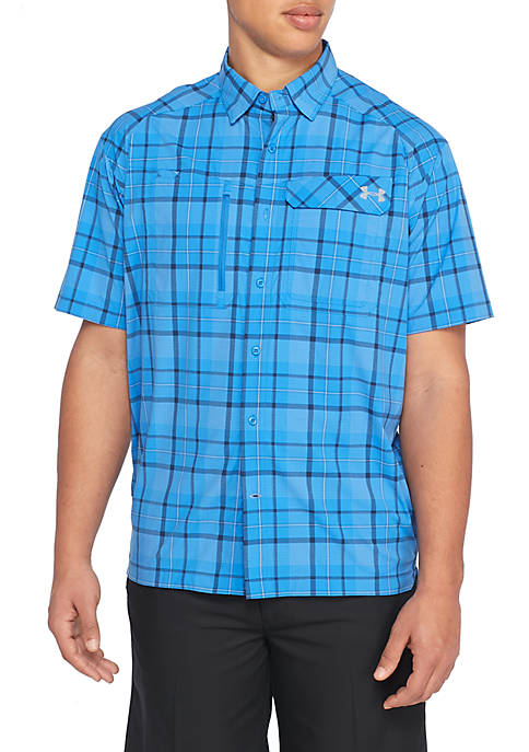 Under Armour® Fish Hunter Plaid Button-Down Shirt