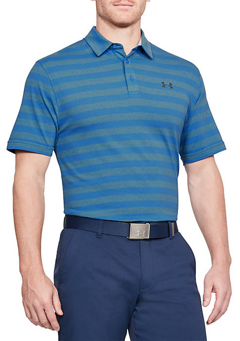 Under Armour® Charged Cotton Scramble Stripe Polo