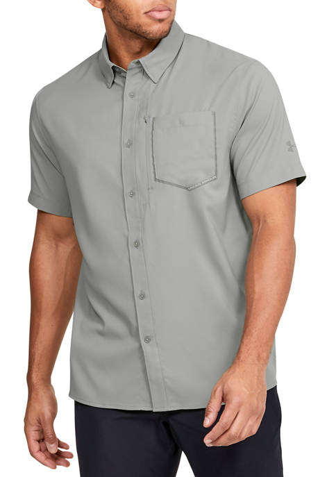 Under Armour® Short Sleeve High Tide Solid Woven