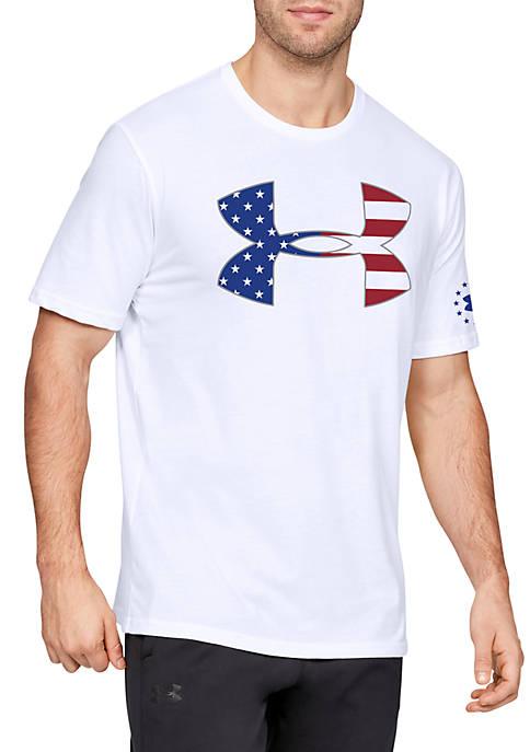Freedom Big Logo Flag Short Sleeve T Shirt