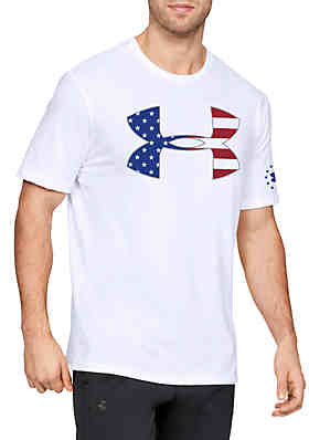 0bc8955ff Under Armour® Freedom Big Logo Flag Short Sleeve T Shirt ...