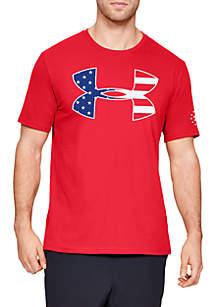 Under Armour® Freedom Big Logo Flag Short Sleeve T Shirt