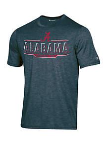 KNIGHTS APPAREL Champion® Alabama Crimson Tide Short Sleeve Motion Infinity Stripe Tee