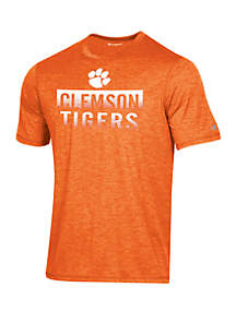 KNIGHTS APPAREL Champion® Clemson Tigers Short Sleeve Motion Infinity Stripe Tee