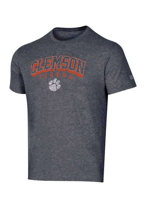 Champion® NCAA Clemson Tigers Heathered Gray Short Sleeve