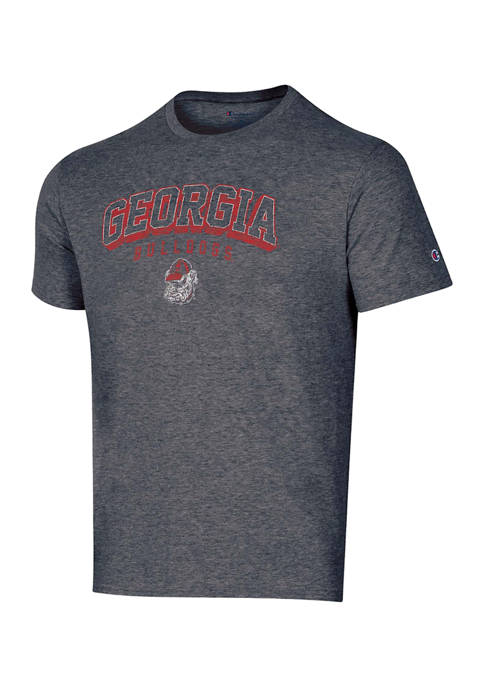Champion® NCAA Georgia Bulldogs Heather Gray Short Sleeve